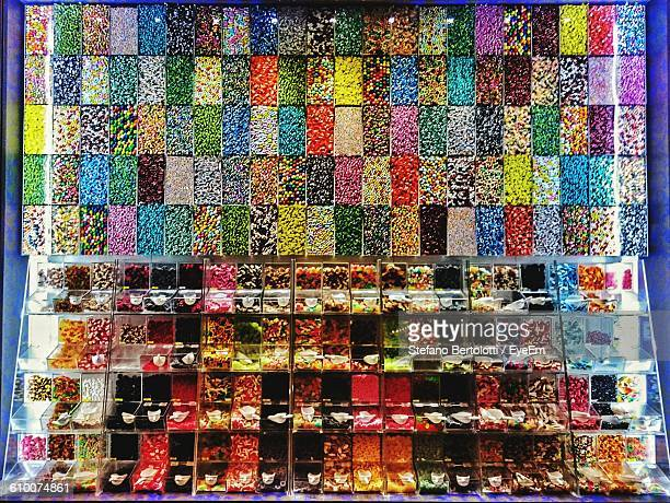 Candies Displayed In Store For Sale