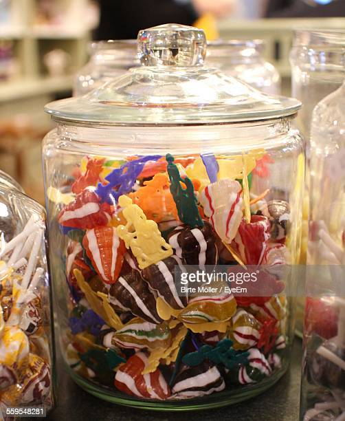Candies In Jars At Shop