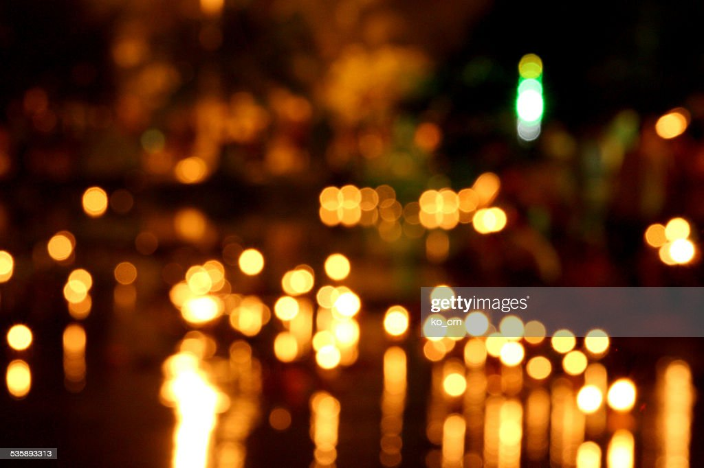 Candle bokeh background. : Stockfoto