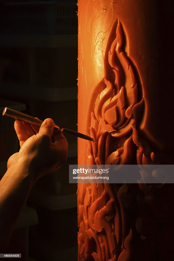 candle carving : Stockfoto