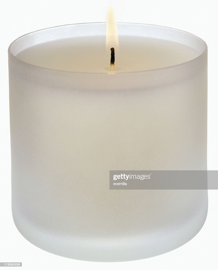 candle cut out on white : Stock Photo