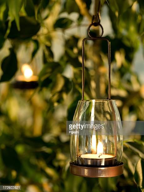 Kerze hängen in yard
