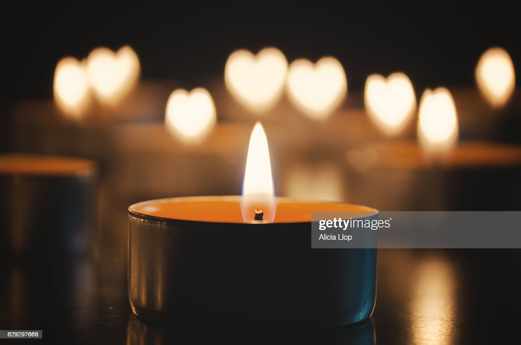 Candle heart : Stock Photo