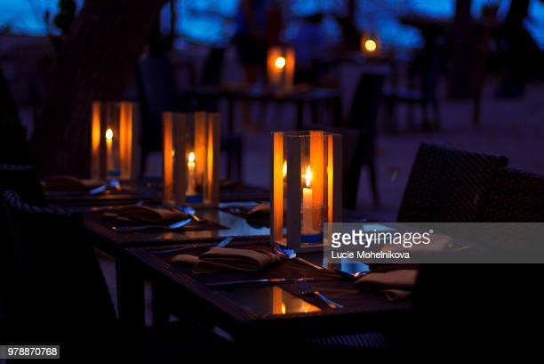 candle light dinner - candle light stock pictures, royalty-free photos & images