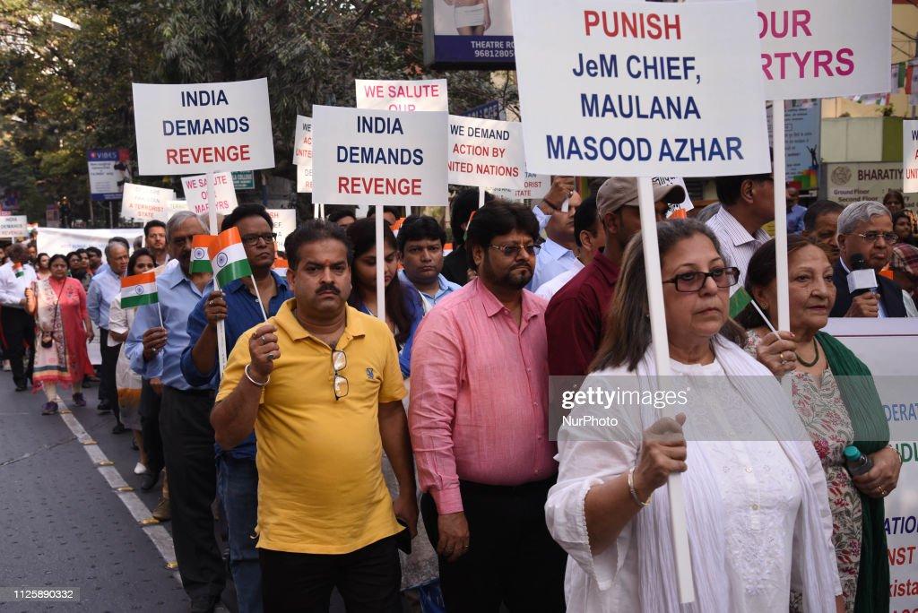 IND: Protest Against Pakistan In Kolkata