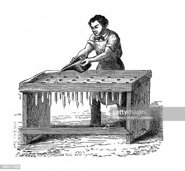 Candle maker, illustration