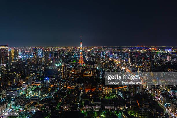 candle of tokyo - roppongi hills stock pictures, royalty-free photos & images