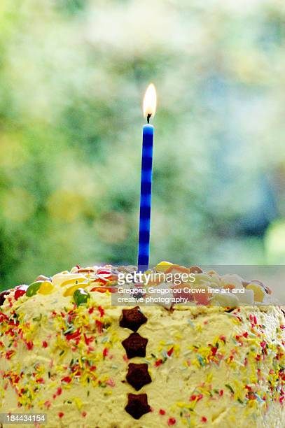 candle on a cake - gregoria gregoriou crowe fine art and creative photography stock photos and pictures