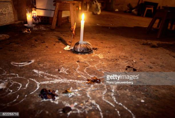 Candle on Floor for Spirit Healing