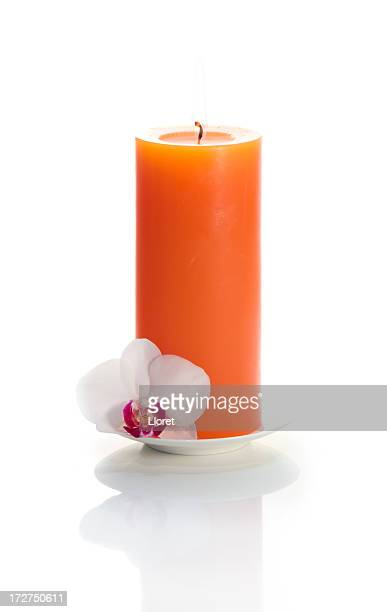 Candle with Orchid