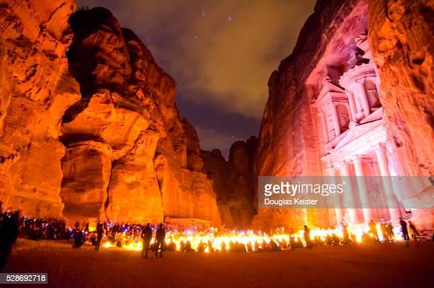 Candlelight Tour at The Treasury, Petra, Jordan