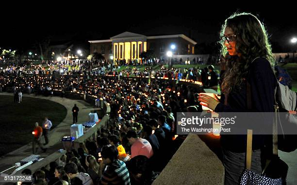 A candlelight vigil attended by hundreds was held tonight at McIntyre Amphitheater The vigil was to honor Hannah Graham who went missing in downtown...