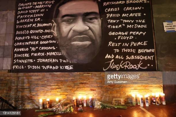 Candlelight vigil for Andrew Brown, Ma'khia Bryant and Daunte Wright at The Laugh Factory on April 23, 2021 in West Hollywood, California.