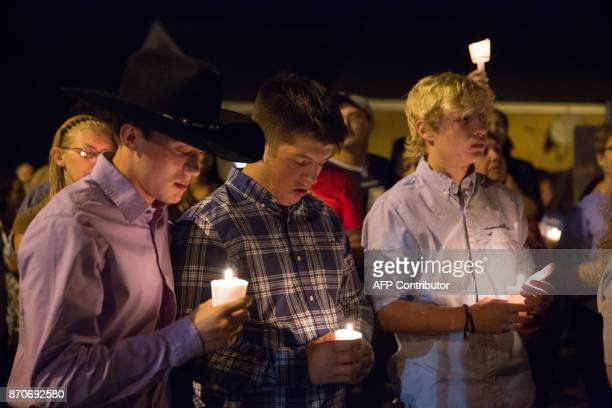 A candlelight vigil is observed on November 5 following the mass shooting at the First Baptist Church in Sutherland Springs Texas that left 26 people...