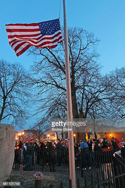 A candlelight vigil was held tonight in Central Square in East Boston for Boston firefighters Mike Kennedy and Eddie Walsh who were killed while...