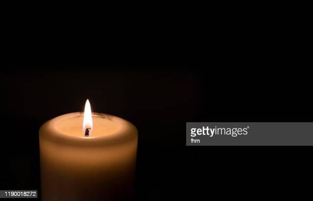 candlelight with black background - levande ljus bildbanksfoton och bilder