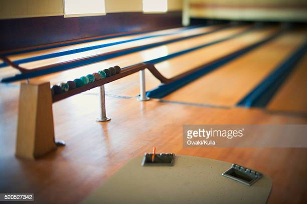 Candlepin Bowling Lanes Stock Photo - Getty Images