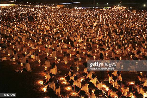 Candles And 2000 Lanterns Lit In Memory Of Tsunami Victims In Phuket Thailand On January 19Th 2005 10 000 Persons And 2000 Bonzes Lit 20000 Bougies...