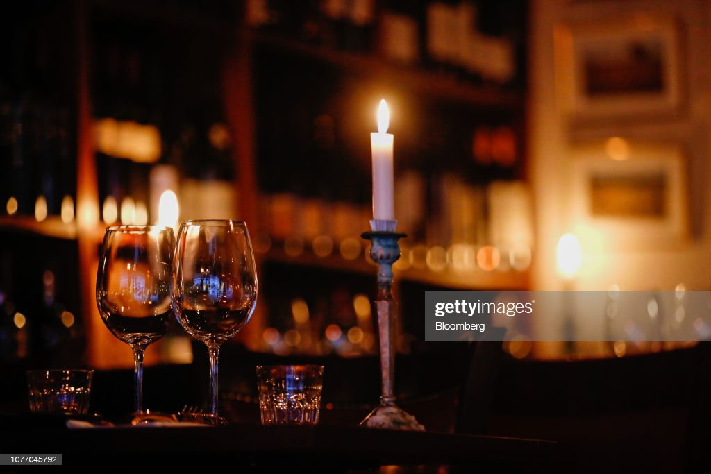Candles And Wine Glasses Stand On A Restaurant Table In Copenhagen News Photo Getty Images