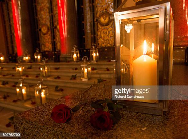 Candles are lit and roses laid to commemorate the victims of the Hillsborough disaster at St George's Hall as the 96 victims of the Hillsborough...