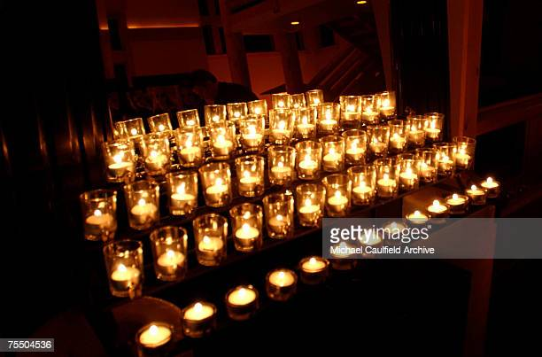 """Candles at the """"XX/XY"""" party at the Chrysler Lodge. During 2002 Sundance Film Festival - """"XX/YY"""" Party at the Chrysler Lodge during the Chrysler..."""