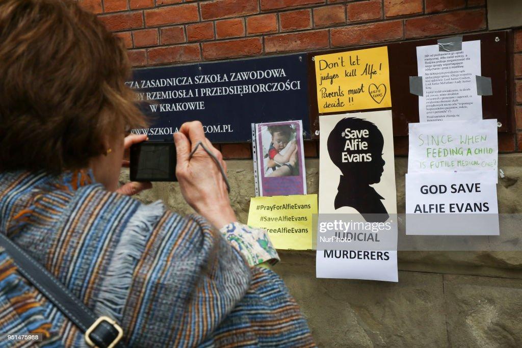 Pray For Alfie Evans in Krakow