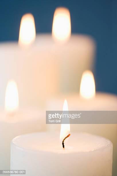 Candles burning, close-up
