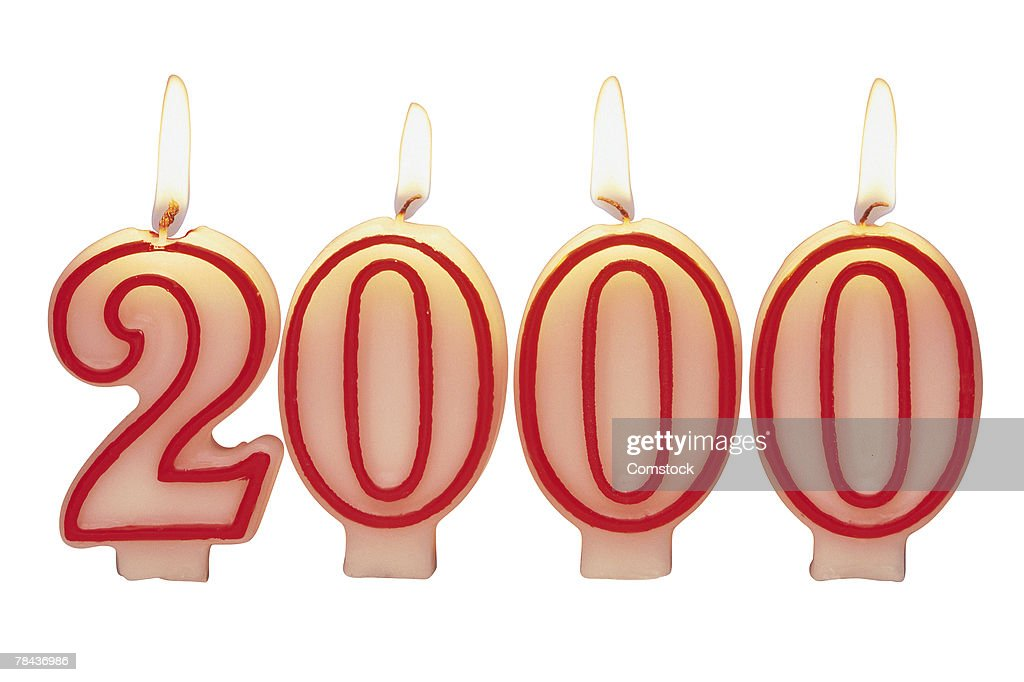 Candles for year 2000 : Stockfoto