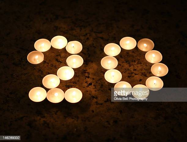 Candles in Shape of Number 20