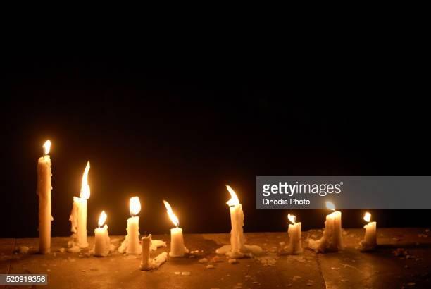Candles of wax Illuminated for Festival masunda Tank Thane Maharashtra