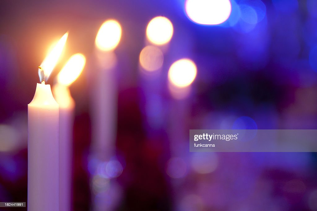 Candles on a Table : Stock Photo