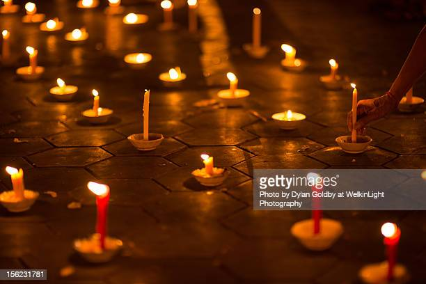 candles - norodom sihanouk stock pictures, royalty-free photos & images