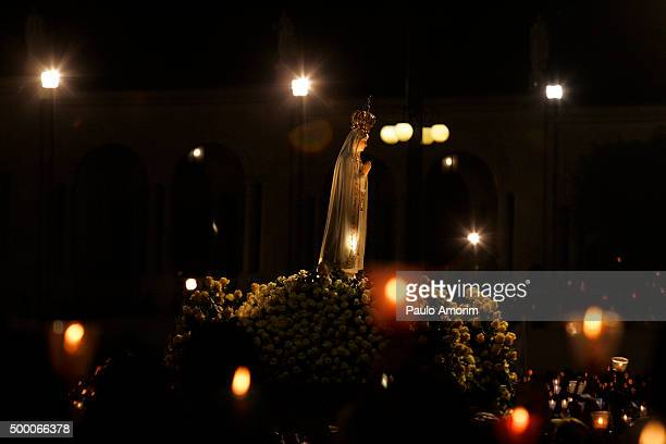 candles procession of our lady fatima - fatima stock pictures, royalty-free photos & images