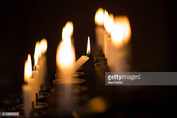 candles with shallow depth of field