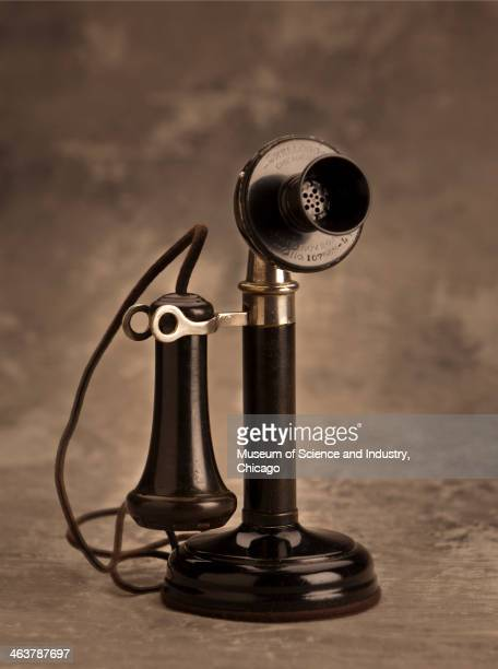 A candlestick style telephone made by the Kellogg Company of Chicago Illinois circa 1908 which is part of a collection of communication artifacts at...