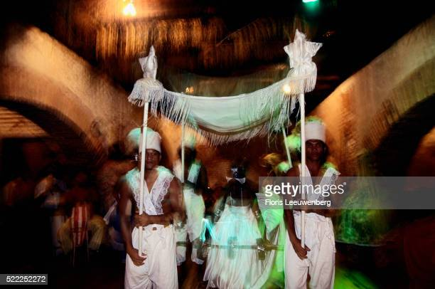 Candomble Followers Performing Ritual