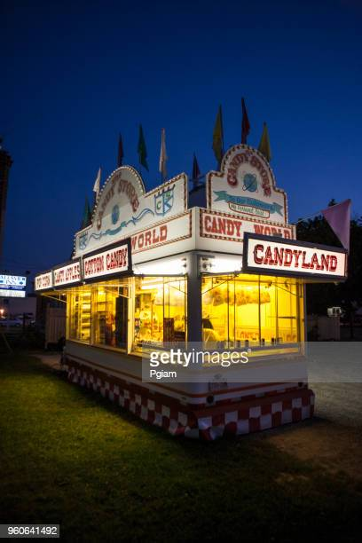 Candy and hot dog booth at the carnival circus