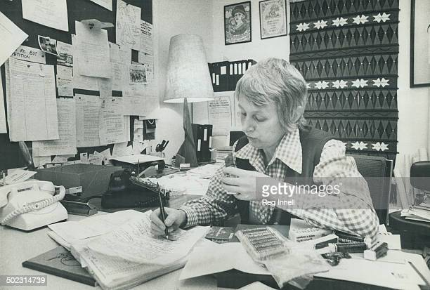 Candy bars are dinner when Alderman Anne Johnston works at night in her cubbyhole office in City Hall as she frequently does Many of the 92 members...