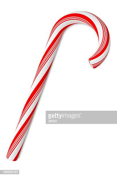Candy Cane on White Background, with Clipping Path (XXXL)