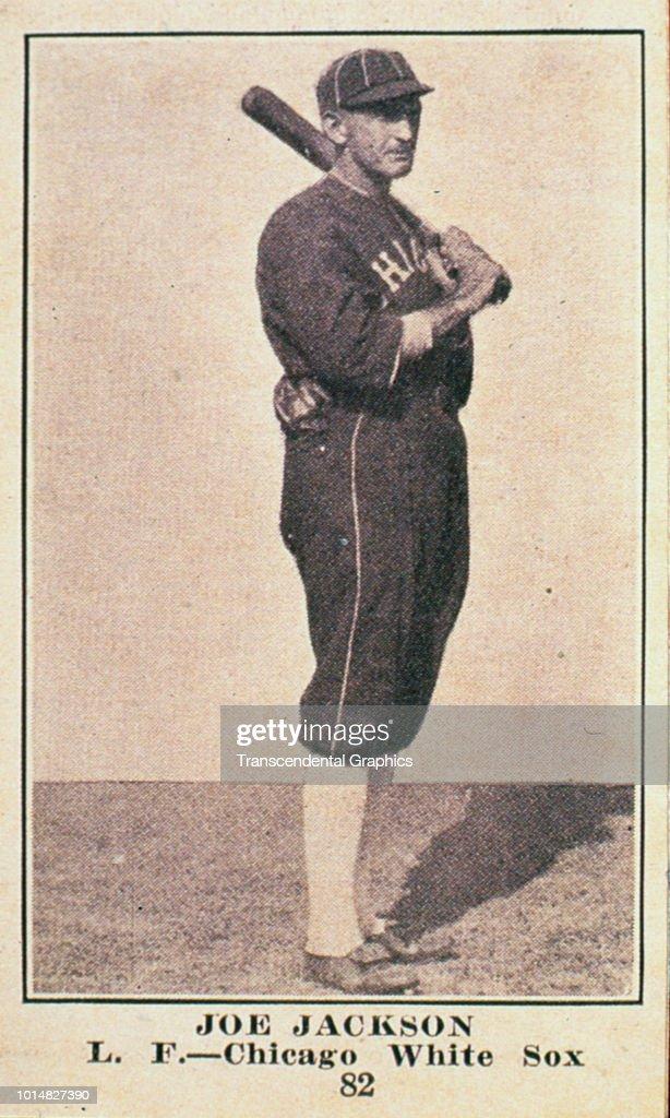 Candy Card Features American Baseball Player Joe Jackson