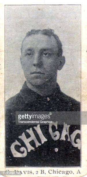 Candy card of American baseball player George Stacy Davis second baseman for the Chicago White Sox 1903