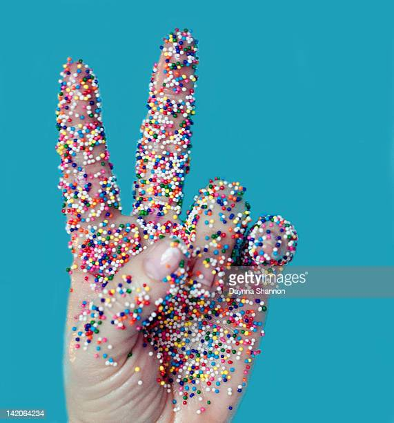 Candy coated peace sign