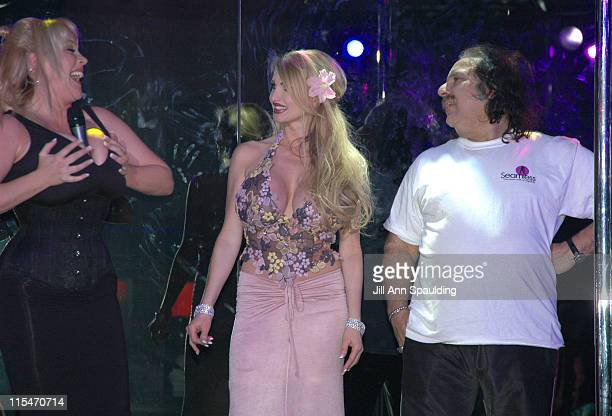 Candy Cox Taylor Wane and Ron Jeremy during Taylor Wane Fashion Show of Her New Nasstoys Taylor Wane Signature Line Show at Seamless Club in Las...