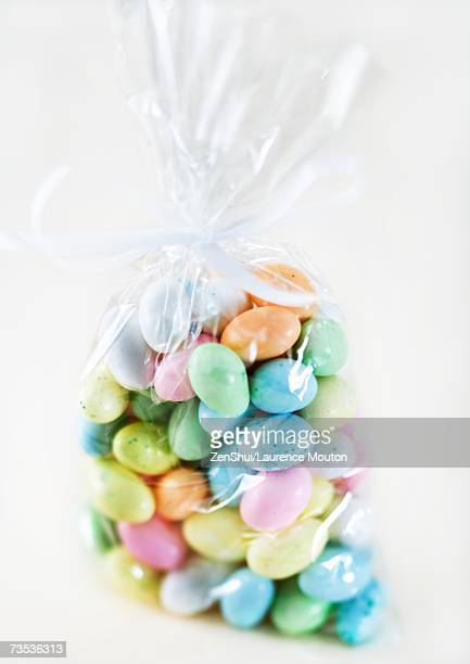 Candy eggs in package