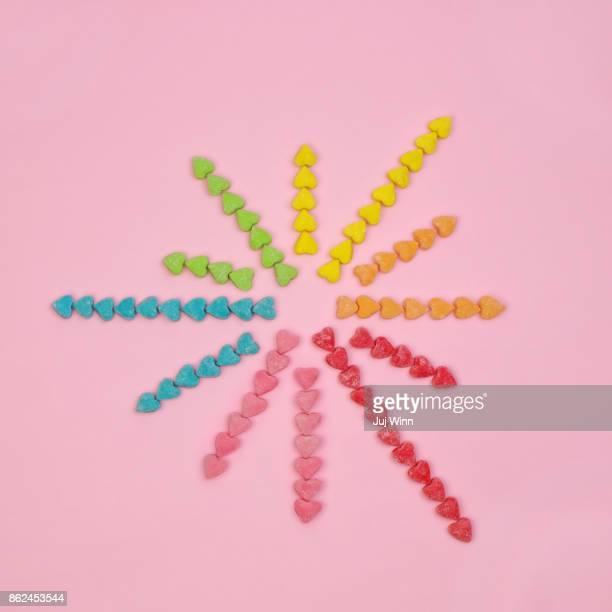 Candy Heart Starburst