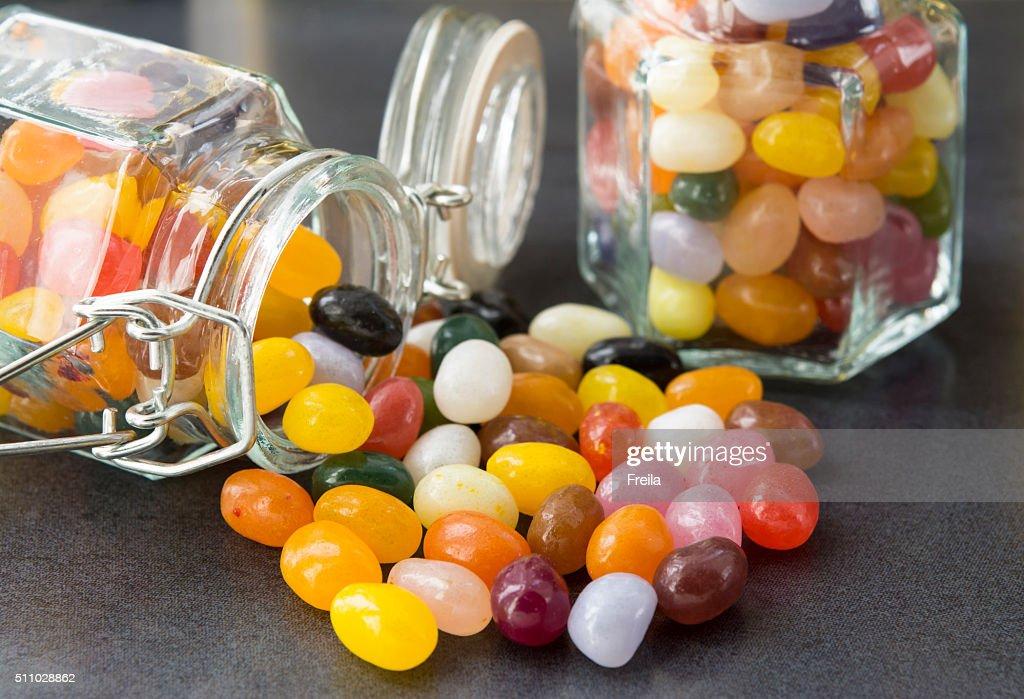 candy in a mason jar : Stock Photo