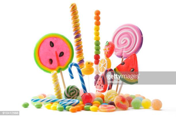 candy - pile of candy stock photos and pictures