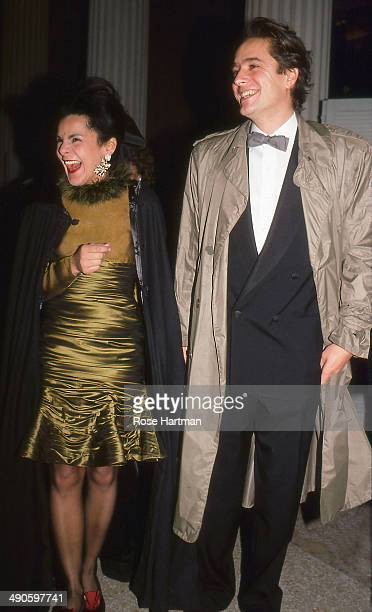 Candy Pratts Price and Chuck Price attend the Costume Institute gala at the Metropolitan Museum of Art New York New York 1984