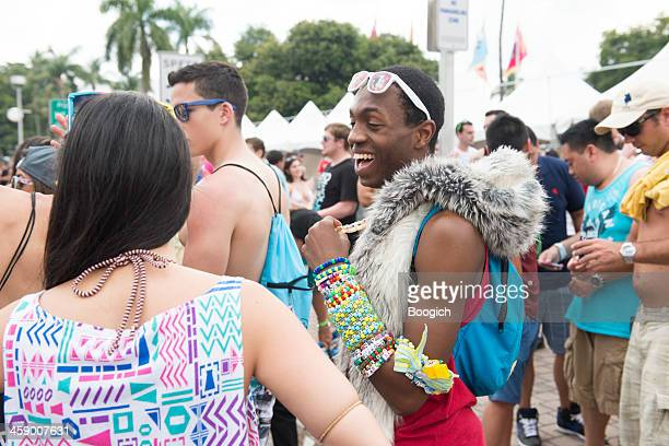 edm candy raver subculture - ultra music festival stock pictures, royalty-free photos & images