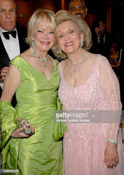 Candy Spelling and Barbara Davis during MercedesBenz Presents the 17th Carousel of Hope Ball Backstage and Audience at Beverly Hills Hilton in...